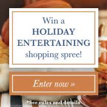 Holiday Entertaining Sweepstakes - holiday entertaining 2014 sweepstakes tasting table
