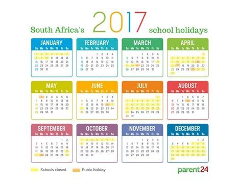 printable calendar 2017 south africa with public holidays 2017 school holidays in south africa parent24