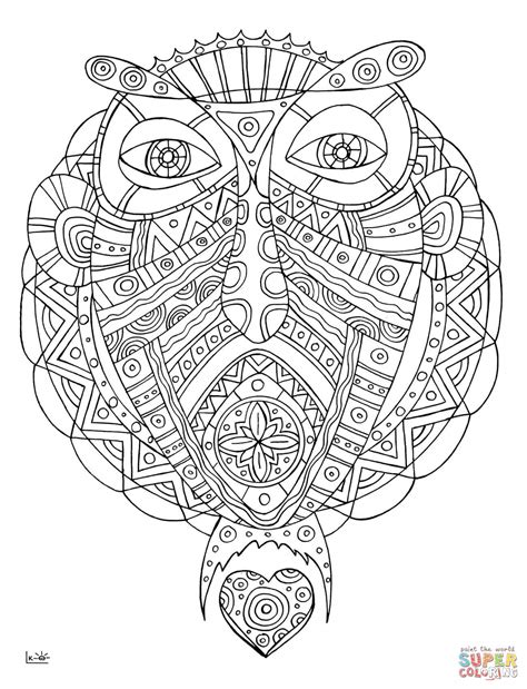 tribal pattern coloring pages unicorn fish with tribal pattern coloring page free