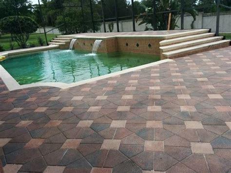 paver pool deck sealing brick paver travertine sealing pool deck travertine or brick pavers