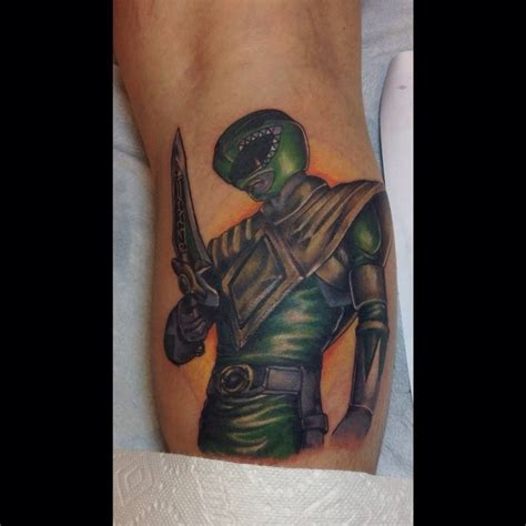island ink tattoo green power ranger done by raimondi at