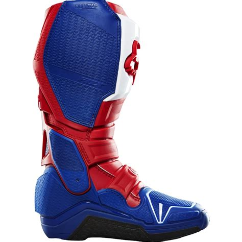 red motocross boots fox racing new mx 2016 le glen helen instinct blue red