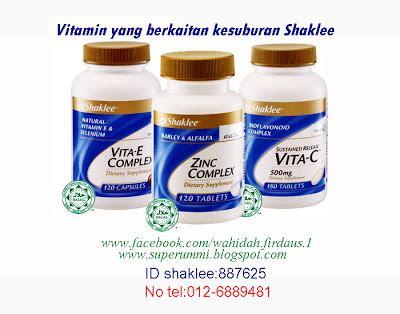 Vitamin Zinc Shaklee ummi vitamins and minerals for fertility vitamin