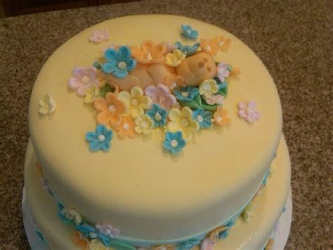 Classic Baby Shower Cakes by S Custom Cakes Classic Pooh Baby Shower