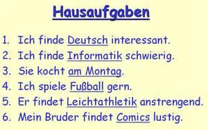 grammar year 8 german