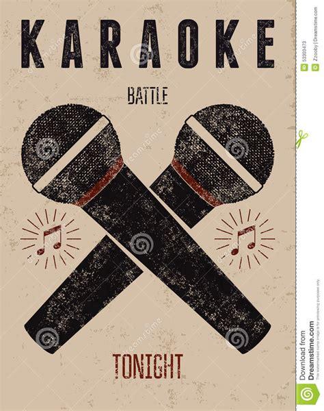 Imagenes Retro Karaoke | typographic retro grunge karaoke poster vector