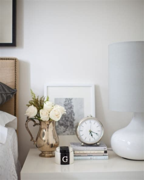 Decorating Ideas For Nightstands Clock Nightstand For The Home