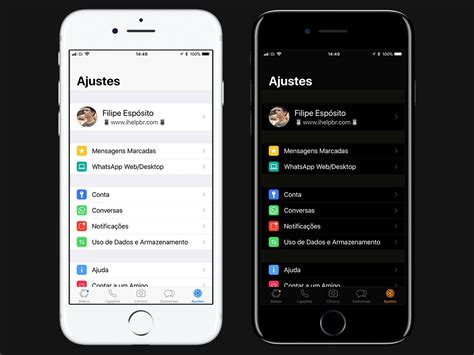 temas para whatsapp iphone whatsapp agora 233 compat 237 vel com quot tema escuro quot do ios 11