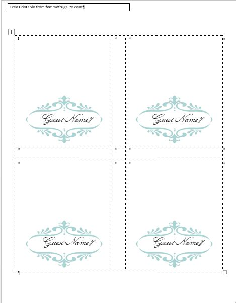 Free Card Template by How To Make Your Own Place Cards For Free With Word And
