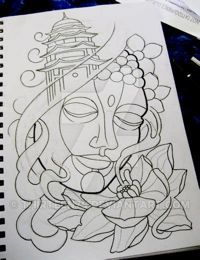 buddha tattoo design by thirteen7s on deviantart