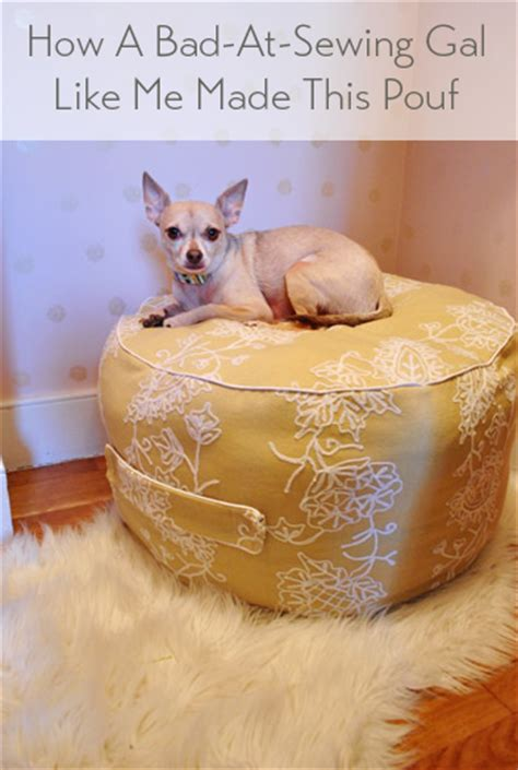 how to make pouf ottoman winter pinterest challenge how to make a beanbag pouf