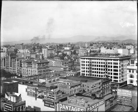 Awesome Harbor City Church #1: Panoramic_view_of_downtown_Los_Angeles_showing_Pershing_Square%2C_ca.1910_%28CHS-5054%29.jpg