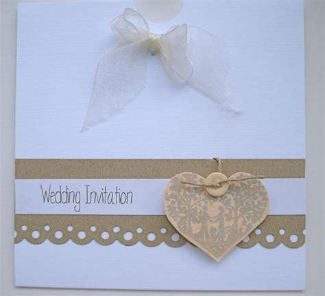 Handmade Rustic Wedding Invitations - the ella range vintage handmade wedding invitation