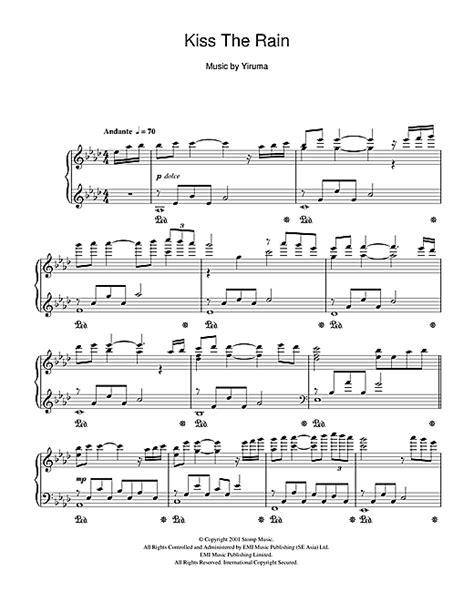 tutorial piano kiss the rain kiss the rain sheet music by yiruma piano 49627
