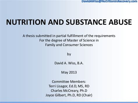 nutrition dissertation ideas wiss thesis defense nutrition and substance abuse