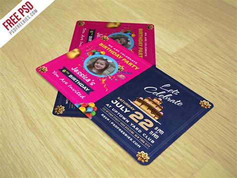birthday card psd template free multipurpose company id card free psd template