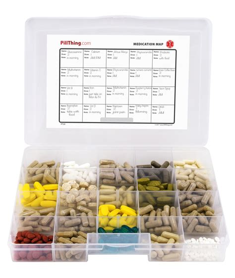 supplement organizer pill supplement organizer tray with 20 compartments item