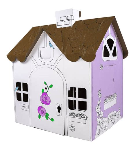 Playhouses And Teepees For Every Style Happiness Is Cardboard Cottage Playhouse