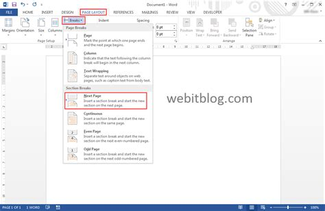 word insert section number insert different page numbers or number formats in