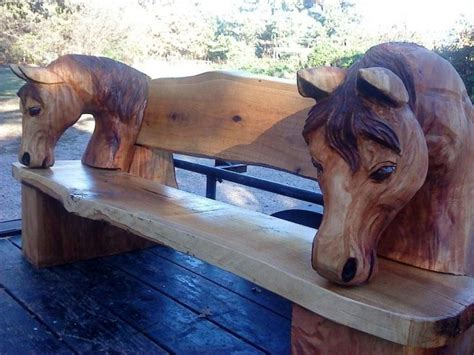 art horse bench 1000 images about cool wood carved things on pinterest