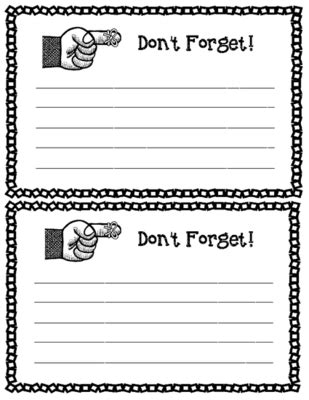 reminder templates for teachers parent communication reminder note printable form lined