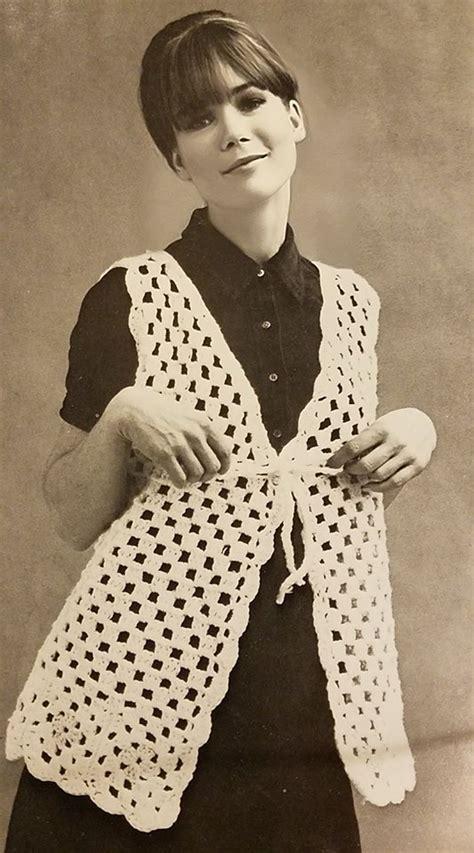 vintage vest pattern vintage granny crochet vest pattern free yarnwars com