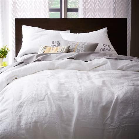 white linen bedding belgian flax linen duvet cover shams white west elm