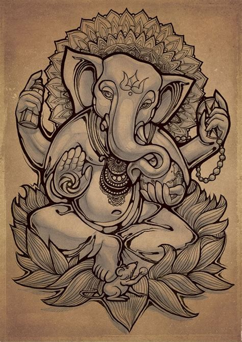 ganesha illustration tattoo the 25 best ganesha drawing ideas on pinterest ganesha