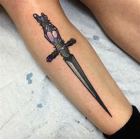 flower knife tattoo 50 amazing sword dagger and knife tattoo designs