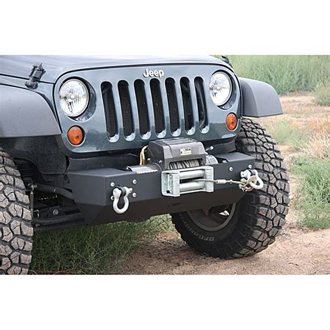 front bumpers for jeep jk jeep offset winch mount front stubby bumper for jeep jk