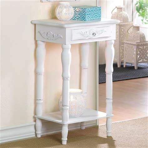 white accent table with drawers cosenza antique white accent table with drawer