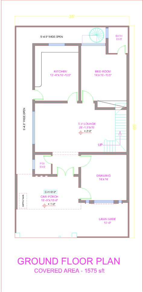 3d front elevation 10 marla house plan layout