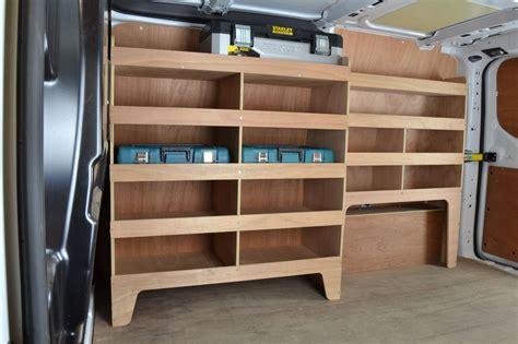 transit custom plywood offside racking shelving unit