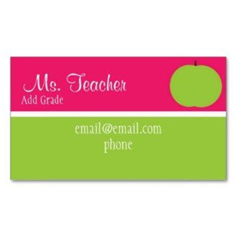 1000 ideas about teacher business cards on pinterest