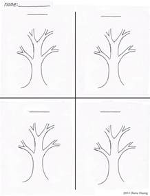 drawing templates for four seasons tree drawing template worksheet by diana