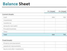 Household Balance Sheet Template by Balance Sheet Office Templates