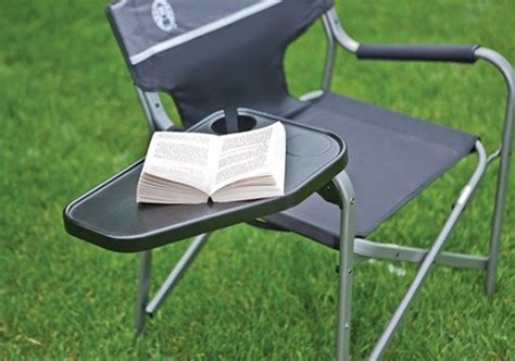 Coleman Deck Chair With Folding Table by New Coleman Aluminum Cing Deck Folding Chair W Swivel