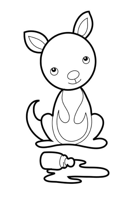 kirby kangaroo coloring pages kirby coloring pages free printable kirby coloring pages