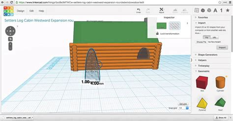 windows door how to move window 3d printed log cabin tinkercad tutorial on how to move