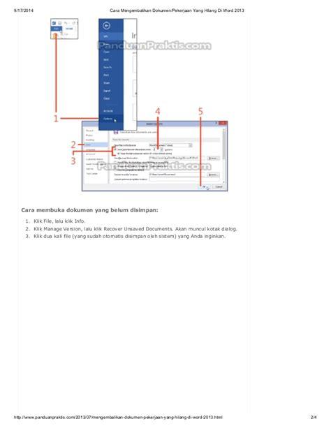 cara membuat skck yang hilang cara mengembalikan dokumen pekerjaan yang hilang diword2013