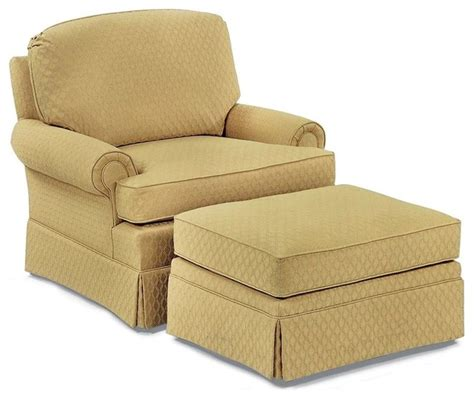 fabric chair and ottoman sets fairfield chair co lounge chair w skirted ottoman fabric