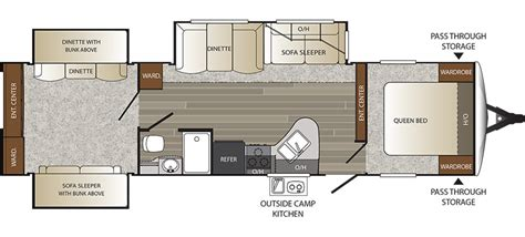 outback rv floor plans 2016 keystone outback 322bh cing world of bossier