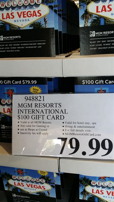 Mgm Gift Card - costco is selling mgm gift cards 79 00 for 100 gift card electricdaisycarnival