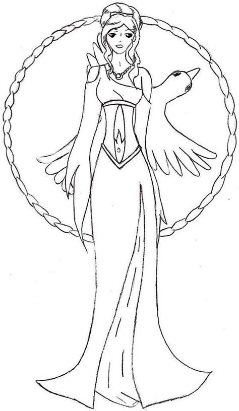 Aphrodite Coloring Page aphrodite easy coloring pages