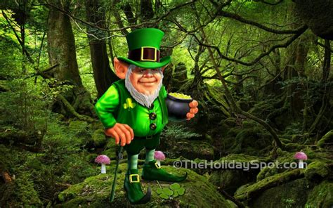 gold wallpaper ireland get lucky with leprechaun desktop wallpaper for st