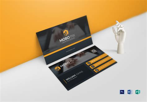 Sided Business Card Template Publisher by Sided Business Card Design Template In Word Psd