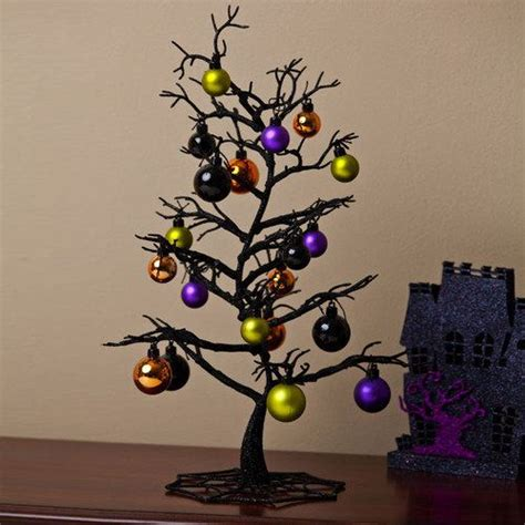 cypress home spooky tree with ornaments table decor