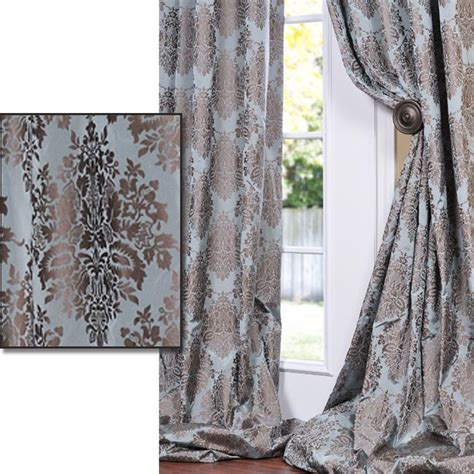 brown patterned curtains exclusive fabrics medium teal blue with cocoa brown