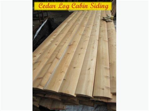 cedar log cabin siding outside comox valley cbell river