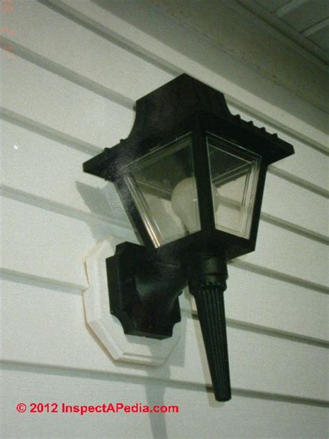 Install Outdoor Light Fixture Unsafe Exterior Light Fixture Inspection Defects